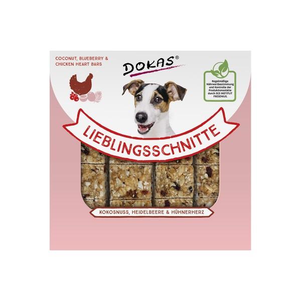 Dokas Lieblingsschnitte Kokosnuss, Heidelbeere, Hühnerherz