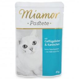 Miamor Katzenfutter Pastete Geflügelleber und Kaninchen