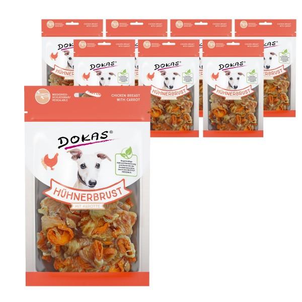 Dokas Hundesnack Hühnerbrust mit Karotte 8x70g