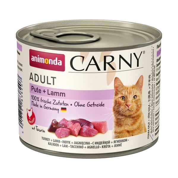 animonda Carny Adult Pute + Lamm 200g Dosen