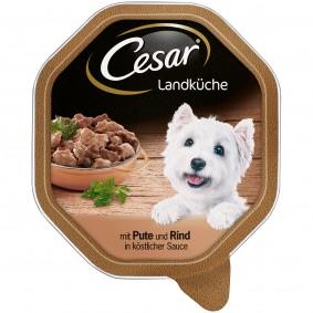 Cesar Landküche in Sauce mit Pute und Rind
