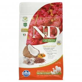 N&D Dog Quinoa Skin & Coat se sleděm