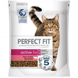 Perfect Fit Katzenfutter Active 1+ reich an Rind