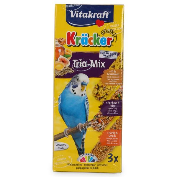 Vitakraft Kräcker Trio mit Ei, Frucht und Honig für Sittiche - 1 Stück