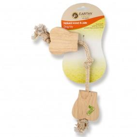 Earthy Pawz Holz Hundespielzeug Knochen
