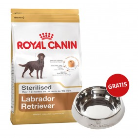Royal Canin Labrador Retriever Sterilised 12kg + Edelstahlnapf silber gratis