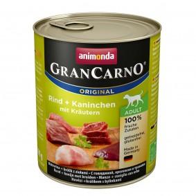 Animonda Hunde-Nassfutter GranCarno Adult Rind und Kaninchen mit Kräutern
