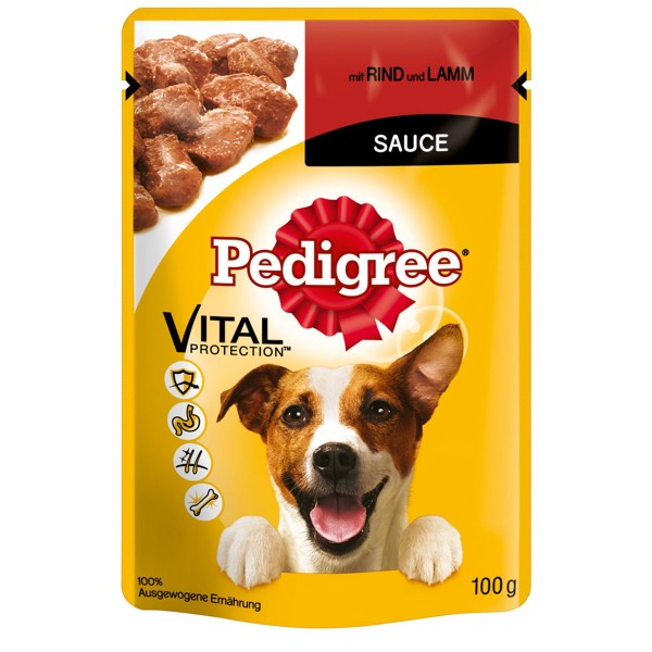 Pedigree Adult mit Rind und Lamm in Sauce