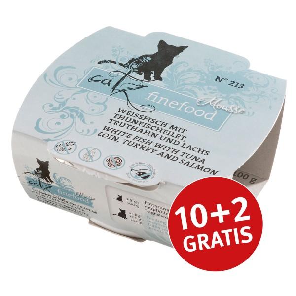 Catz finefood Mousse N°213 Thunfisch und Lachs 100g 10+2 gratis