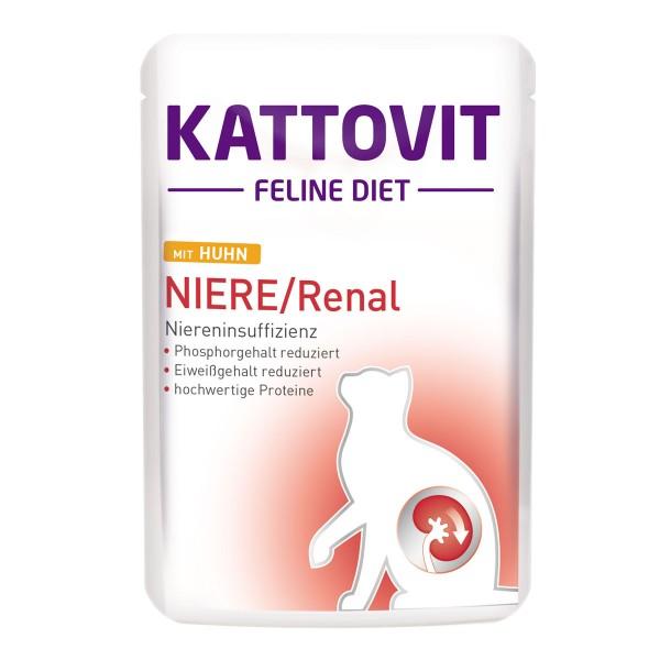 KATTOVIT Feline Diet Niere/Renal mit Huhn 85g