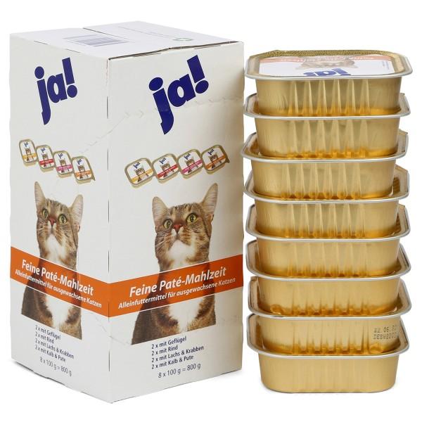 ja! Katzenfutter Adult Feine Paté Mahlzeit 8x100g