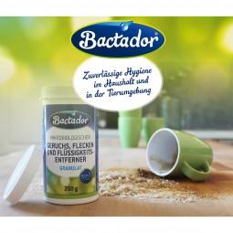 Bactador Geruchs-, Flecken- und Flüssigkeitsentferner Streugranulat 250g