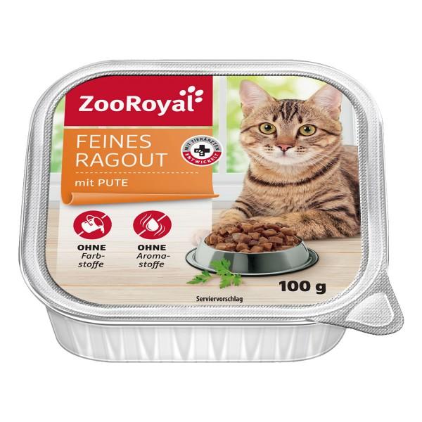 ZooRoyal Katzen-Nassfutter Feines Ragout mit Pute