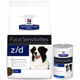 Hill's Prescription Diet z/d Food Sensitivities Hundefutter mit Huhn 10kg + 12x370g Mixpaket