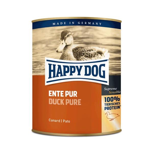 Happy Dog Hundefutter Ente pur - 6x800g