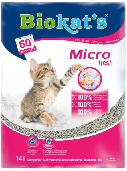 Biokat's Katzenstreu micro fresh die EXTRA-FEINE 14 Liter