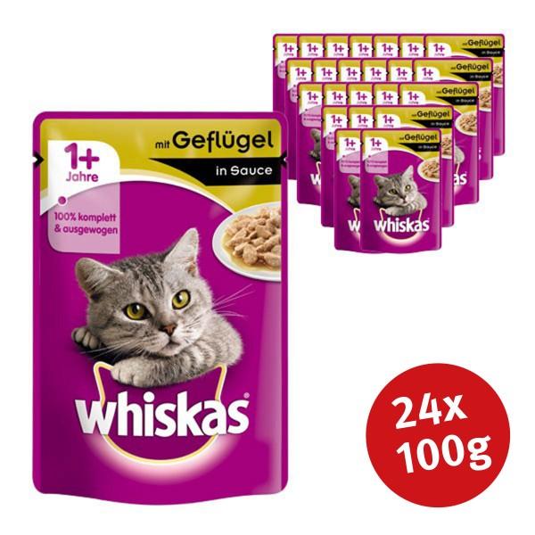 Whiskas Katzenfutter 1+ mit Geflügel in Sauce