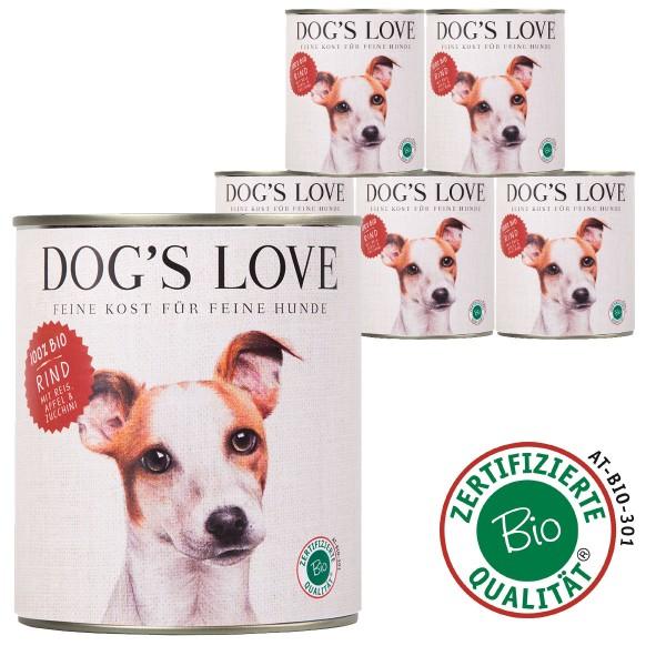 Dog's Love Bio Rind mit Reis, Apfel & Zucchini