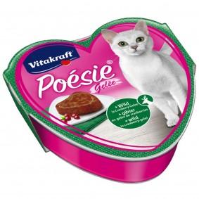 Vitakraft Katzenfutter Poésie mit Wild in Cranberry-Gelée 15x85g