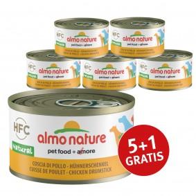 Almo Nature HFC Natural Dog mit Hühnerschenkel 5+1 gratis