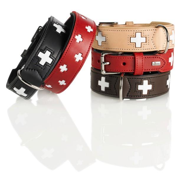 Hunter Swiss Halsband braun/schwarz