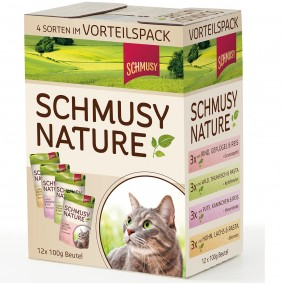 Schmusy Aliment complet pour chats pack multiple 12x100 g