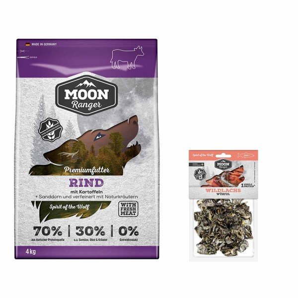 Moon Ranger Rind 4kg + Wildlachswürfel gratis