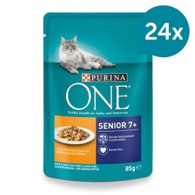 PURINA ONE SENIOR 7+ Katzenfutter nass in Sauce Huhn