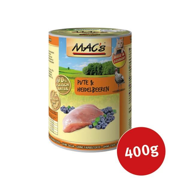 MAC's Cat Katzen Nassfutter Fleischmenü Pute & Heidelbeeren