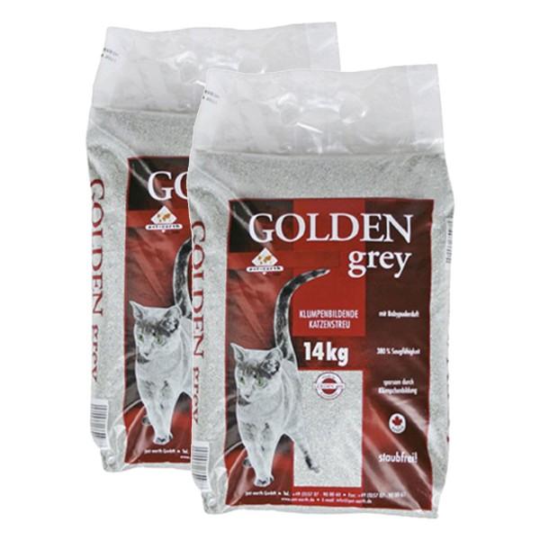Golden Grey Katzenstreu mit Babypuderduft 2x14kg