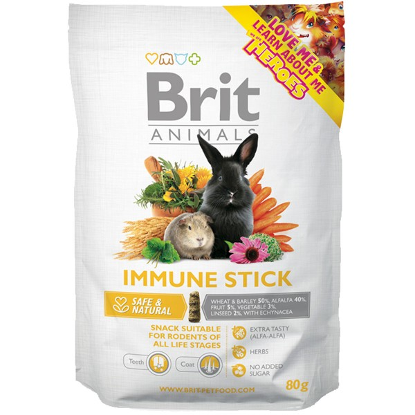 Haustier: Brit Animals Immune Stick 80g