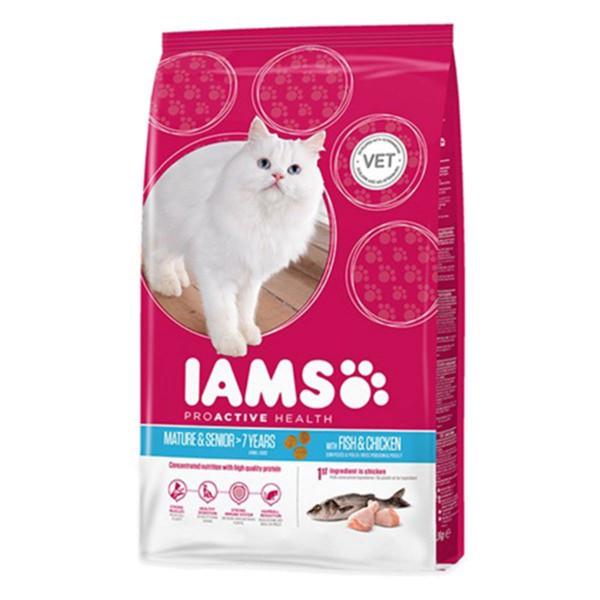 IAMS Katze Trockenfutter Mature & Senior Fisch ...
