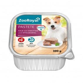 ZooRoyal Pastete Kalb mit Karotten und Apfel