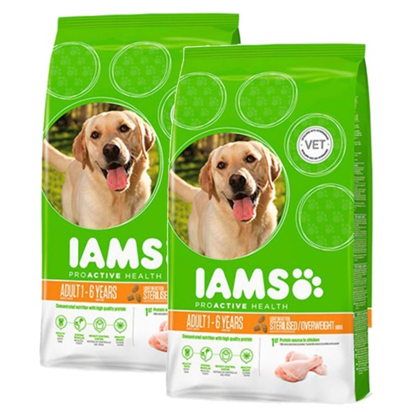 IAMS Hund Adult Weight Control Huhn 2x12kg