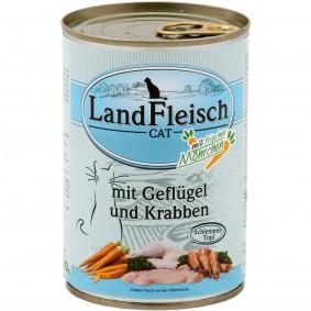 Landfleisch Cat Katzen-Nassfutter Schlemmertopf Geflügel & Krabben