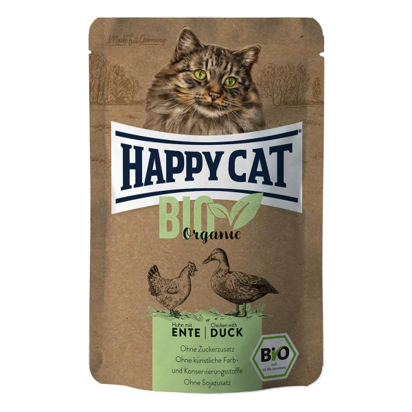 Happy Cat Bio Pouch Huhn & Ente