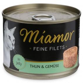 Miamor Katzen-Nassfutter Feine Filets in Jelly Thunfisch und Gemüse