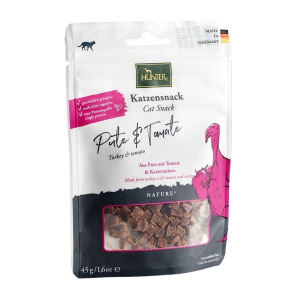 Hunter Katzensnack, Pute, Tomate & Katzenminze 45 g