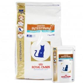 Royal Canin Vet Diet Gastro Intestinal Moderate Calorie GIM 35 4kg + 12x100g