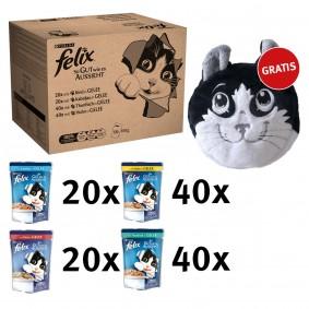 Felix So gut wie es aussieht Mix in Gelee 120x100g + Felix Katzenkissen mit Catnip gratis