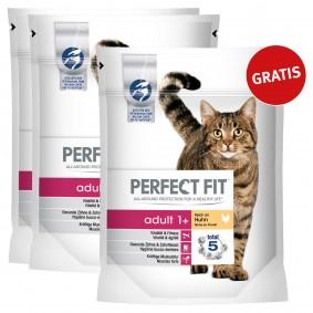 Perfect Fit Katzenfutter Adult 1+ reich an Huhn 1,4kg 2+1 gratis