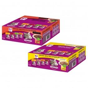 Whiskas Adult 1+ Mega-Mixpaket in Sauce oder Gelee 160x100g