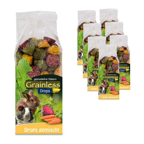 JR Farm Grainless Drops gemischt 8x140g