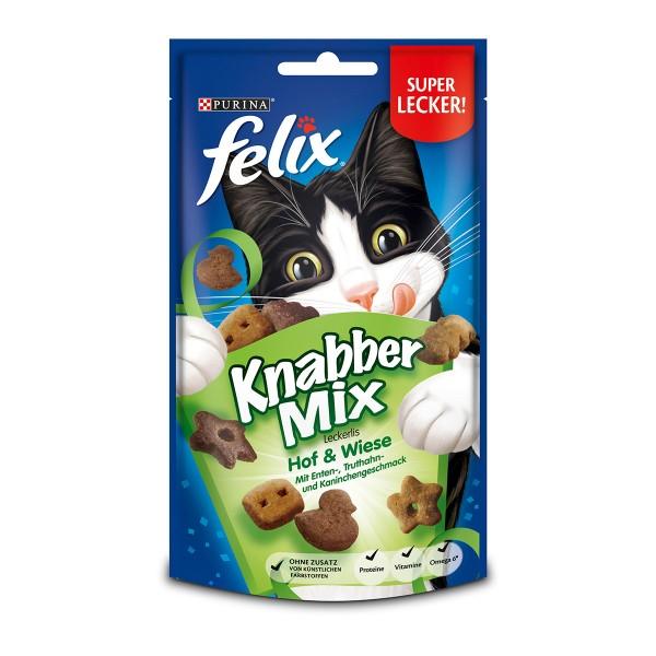 FELIX KnabberMix Hof & Wiese mit Enten-, Truthahn- und Kaninchengeschmack