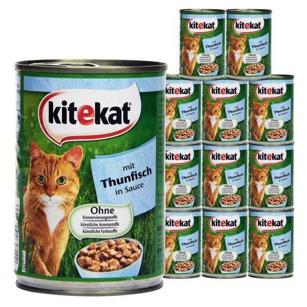Kitekat Katzen-Nassfutter in Soße 12x400g - Thu...