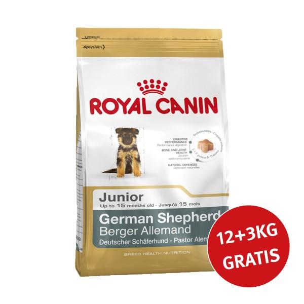Royal Canin German Shepherd Junior 12kg+3kg Gra...