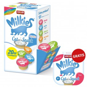 Animonda Katzensnack Milkies Selection Cup 20x15g +  4x15g Gratis