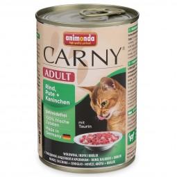 Animonda Katzenfutter Carny Adult Rind, Pute & Kaninchen