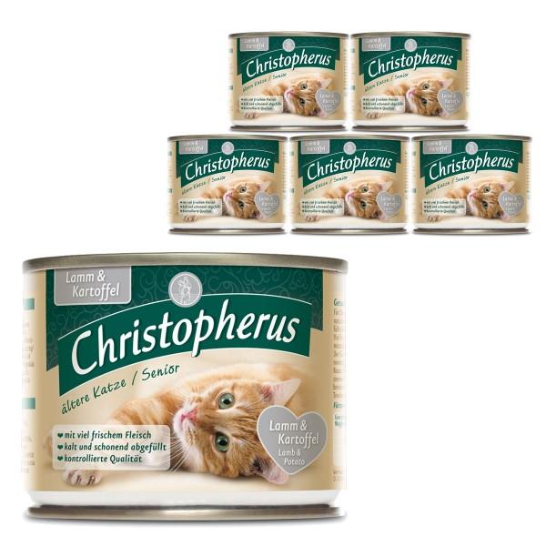 Christopherus Fleischmahlzeiten Ältere Katze Lamm und Kartoffel 6x200g