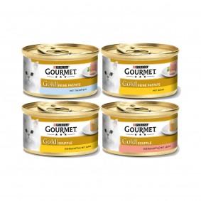 Gourmet Katzenfutter Schnupperpaket 48x85g